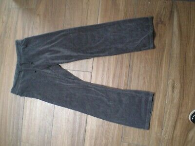 H & M girls dark grey velour track suit jogging bottoms aged 10-11 years