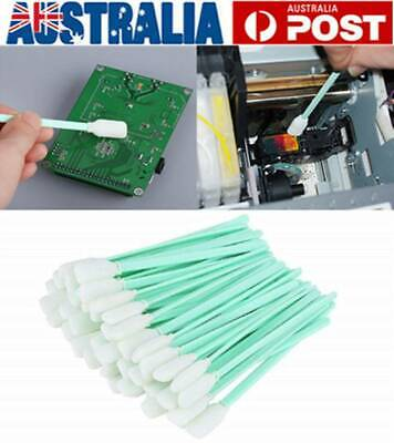 100pcs Printer Swabs Foam Head Solvent Cleaning Foam Tipped For Inkjet Printer
