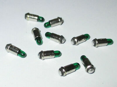 Replacement Lamps Micro Lamps 2, 8x4mm - Green - 10 Pieces New