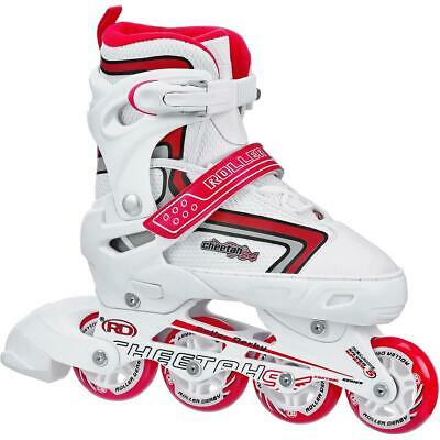 Roller Derby Cheetah S4 Girl's Adjustable Inline White/Red