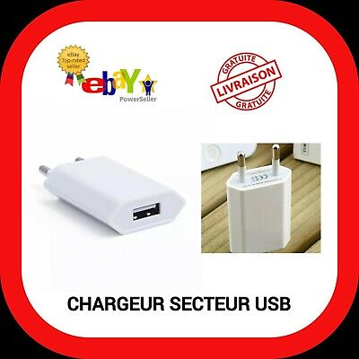Chargeur Prise Secteur Usb 5W Apple A1400 Iphone Ipad Ipod
