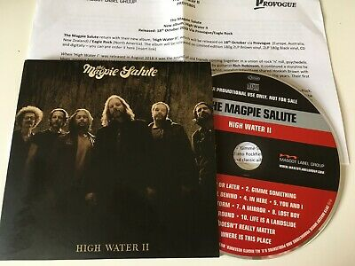 The Magpie Salute 2019 PROMO CD ALBUM +PR High Water II BLACK CROWES