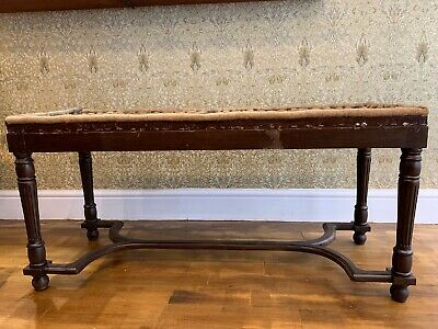 antique Victorian wooden Bench/ stool