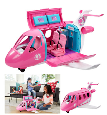 Barbie Dream Plane Playset Toy, Girls Pretend Play With 15+ Themed Accessories