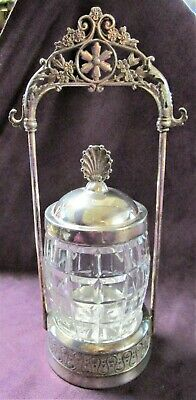 TUFTS Antique Silverplate & Cut Glass Pickle Castor Victorian Styling