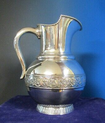 Impressive Gorham Antique Silverplate Water Pitcher Victorian Styling 1887