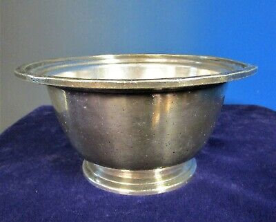 THE SHOREHAM Footed Bowl 20 oz SILHOUETTE Silverplate Pattern 1947
