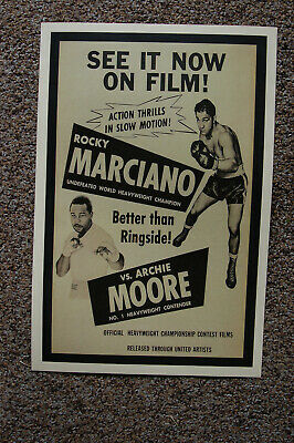 Rocky Marciano vs Archie Moore  Fight Poster 1955