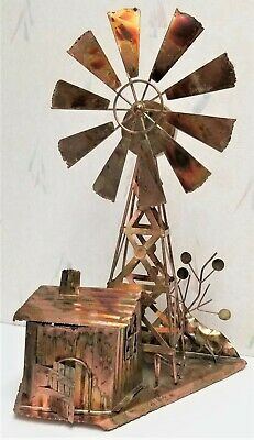 Copper Farm Musical Windmill Ornament Dreams the Impossible Dream