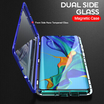 360°Full body tempered Glass Metal Magnetic Case For Samsung Note 10 S9 Plus S10