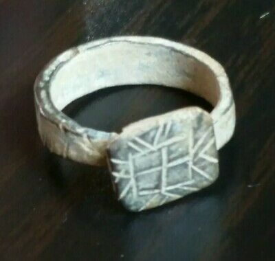 Authentic Ancient Bronze Byzantine or Crusaders Ring Artifact Antiquity holyland