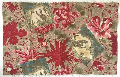 Beautiful Antique 19th C. French Chinoise Cotton Print Fabric  (2688)