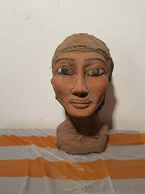 Rare Antique Ancient Egyptian Statue Beautiful clever Queen Nefertiti1370-1330BC