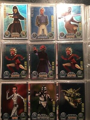 Topps Star Wars Force Attax Series 1 20x Star Cards and Force Masters
