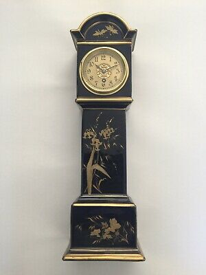 Rare Miniature Porcelain Longcase Clock, Mantle Clock, Grandfather Clock