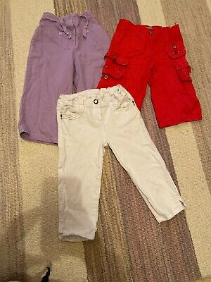 Girls Bundle 2/3 Length Trousers 7-8 Years Pumpkin Patch And Mini Boden