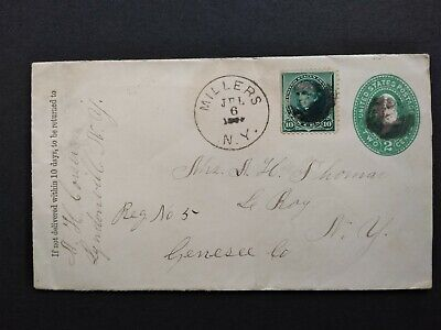 New York: Millers 1892 (circa) Registered Cover, DPO Orleans Co