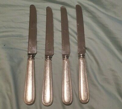 Tiffany & Co sterling silver Gramercy lot of 4 Hamilton knives 9""