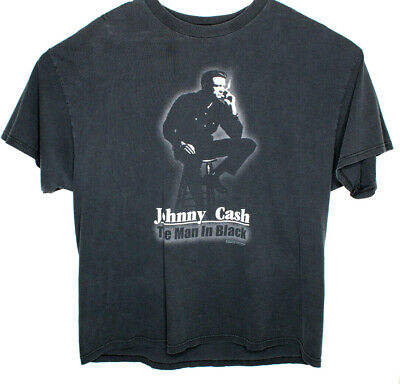 Vtg 2004 Zion Rootswear Johnny Cash Man In Black Graphic SS T Shirt Size 2xL