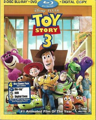 Blu-ray/DVD: Toy Story 3 (+ Slip Cover, 2010, 4-Disc Set,+ Digital Copy) New