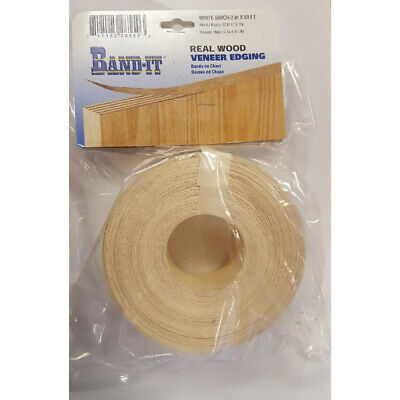 Band It White Birch Real Wood Veneer Edging 2 in. W x 50 ft. L