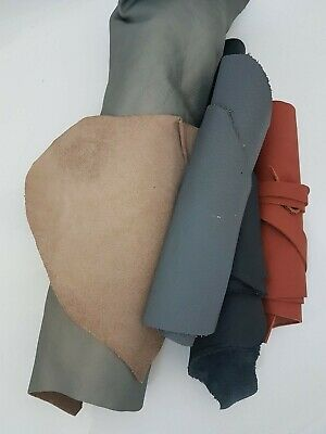 Leather Remnants Mixed Colours Upholstery Quality Offcuts /Scraps - 1kg Craft