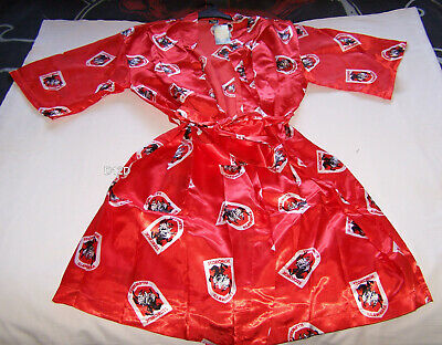 St George Illawarra Dragons NRL Mens Satin Kimono Dressing Gown Robe One Size