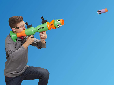 Nerf Guns For Boys Cool Kids Fortnite RL Blaster Foam Rocket Toy Fun Play Game
