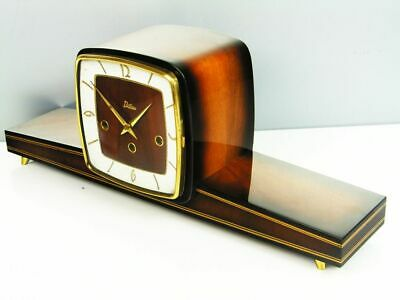 BEAUTIFUL ART DECO WESTMINSTER  CHIMING MANTEL CLOCK  from DILAU WITH OLD KEY