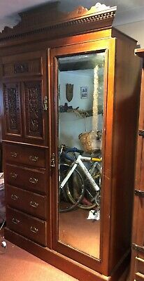 Antique Mahogany Wardrobe/drawers Collection IP4 Maples Of London Fabulous Piece