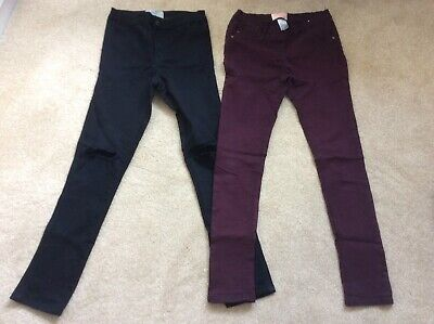 2x Girls Age 12 Trousers