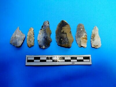 Neolithic Group of Flint Arrowheads -Wiltshire Found  -Look!