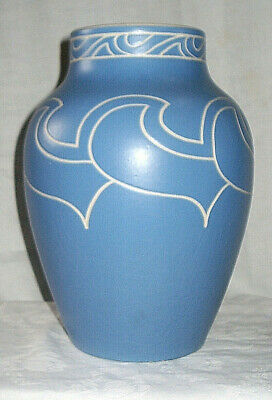 Superb Art Deco 1930s LANGLEY Large Vase by John Spencer 10.75 inches