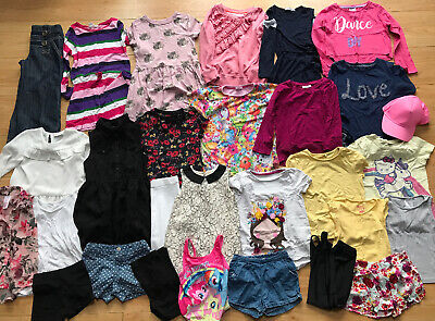 Girls Age 5 Clothes Bundle 4-5 5-6 Years Next Tops Dresses Shorts T-Shirts Large