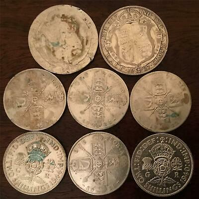 Collection of Old Silver (0.500) Half Crowns and Florins/Two Shilling Coins