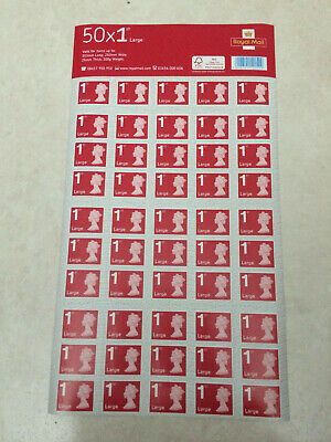 50 Royal Mail First Class Large Letter Size 1st Class Stamps Genuine. Fast POST