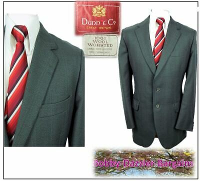 """Dunn & Co Vtge 2 piece mens suit Ch42""""R W36"""" L32"""" Grey Glen Check Worsted Wool"""