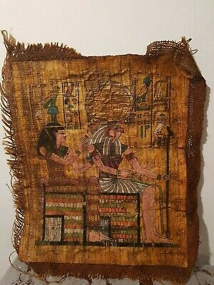 Rare Antique Ancient Egyptian Papyrus God Horus + Isis Health Cure 1850-1790BC