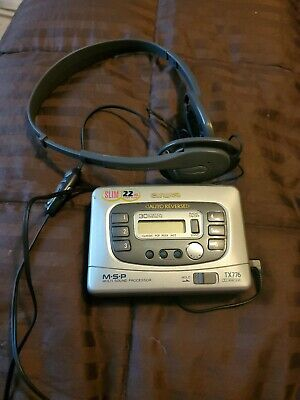 Aiwa TX776 Auto Reverse Stereo Portable AM/FM Radio Cassette Player Tested Works