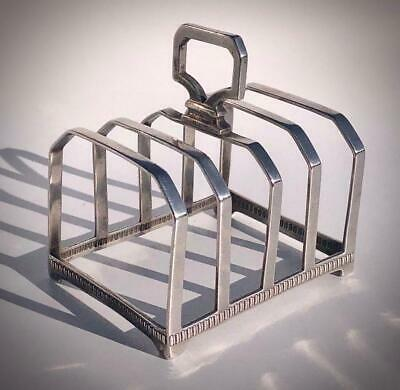 FINE QUALITY HM 1924 STERLING SILVER 77g MAPPIN & WEBB TOAST RACK