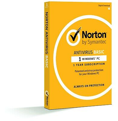 Norton Antivirus - 1 PC - Windows - Internet Security - AU Activation Key