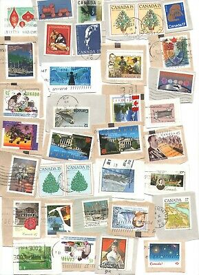 Collection 100 used stamps on paper, bulk, large format only