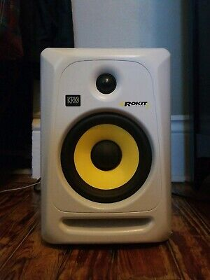 """KRK Rokit 6"""" G3 White (Single) RCA AND POWER CABLE INCLUDED!"""