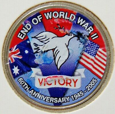 United States America End WWII 1945-2005  VICTORY Coloured Half Dollar Coin