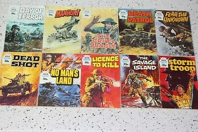 Bulk Lot x10 WAR PICTURE LIBRARY COMIC BOOKS Early Fleetwood Numbers VGC