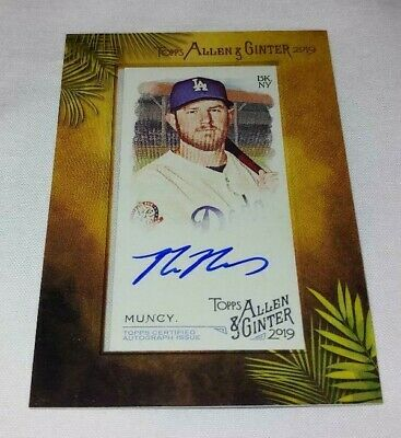 2019 Topps Allen Ginter Framed Auto Max Muncy Los Angeles Dodgers #Ma-Mmu