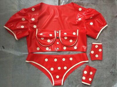 Ganzanzug Gummi Latex Rubber Underwear set Party Cosplay Kostüm Masque  S-XXL