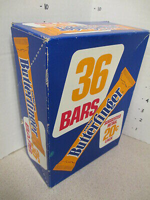 BUTTERFINGER Curtiss candy bar box counter store display 1960s 36ct chocolate