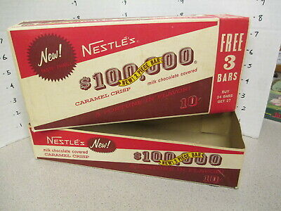 Nestle's $100,000 1960s candy bar store display counter box caramel chocolate