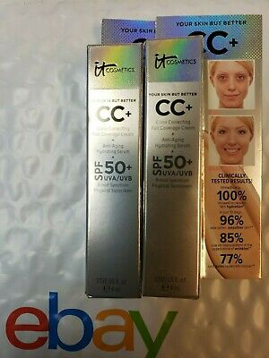 it Cosmetics cc+ Cream LIGHT Your Skin But Better ~ 4ml / .135oz Full Coverage